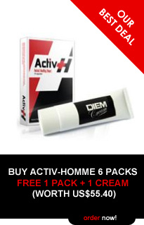 Activ-Homme 3 Packs (30 capsules) - FREE 1 DIEM Cream (Worth US$19.90)! BUY NOW!
